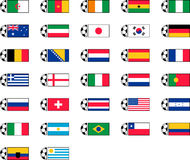 Soccer flag icons Royalty Free Stock Photography