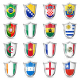 Soccer Flags on Shields Royalty Free Stock Images