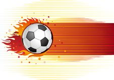 Soccer and flame Stock Image