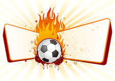Soccer with flames Stock Images