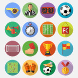 Soccer Flat Icon Set Royalty Free Stock Images