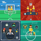 Soccer Flat Icons Composition Royalty Free Stock Photography