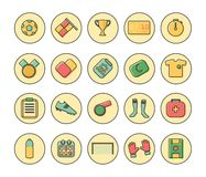 Soccer Flat Icons Royalty Free Stock Image