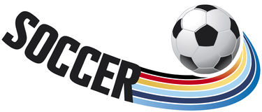 Soccer flying ball Stock Images