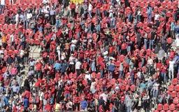 Soccer followers at stadium Royalty Free Stock Photo