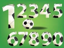 Soccer font design set Royalty Free Stock Photography