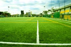Soccer and Fooball Area Field stock images