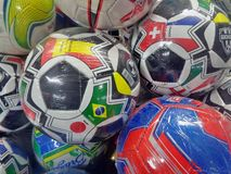 Soccer Foot Balls Royalty Free Stock Photography