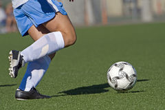 Soccer foot work stock images