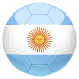 Soccer football with Argentina flag 3d rendering Royalty Free Stock Photography