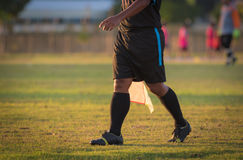 Soccer or football assistant referee Stock Photography