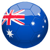 Soccer football with Australia flag 3d rendering Stock Photo