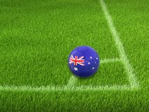 Soccer football with Australian flag Royalty Free Stock Images