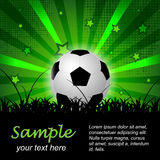 Soccer or football  background with ball and stars Royalty Free Stock Photography