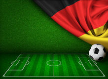 Soccer or football background with flag of Germany Stock Photos