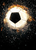 Soccer or football background. Soccer or football sport poster or flyer background with space Stock Photo