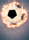 Soccer or football background. Soccer or football sport poster or flyer background with space Stock Photos