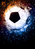 Soccer or football background. Soccer or football sport poster or flyer background with space Royalty Free Stock Images