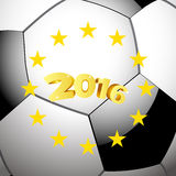 Soccer Football background with stars Stock Photography