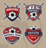 Soccer football badge logo design Royalty Free Stock Photography