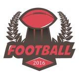 Soccer Football Badge Logo Design Template. royalty free illustration