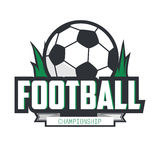 Soccer Football Badge Logo Design Template. Royalty Free Stock Images