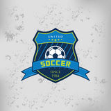 Soccer Football Badge Logo Emblem Design Templates Stock Image