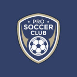 Soccer football badge logo Royalty Free Stock Photos