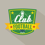 Soccer or Football Badge Royalty Free Stock Photography