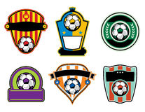 Soccer Football Badges and Labels Royalty Free Stock Image
