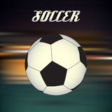 Soccer and football ball on blur abstract background eps10 Stock Photography