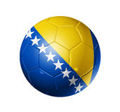 Soccer football ball with Bosnia and Herzegovina f Royalty Free Stock Image