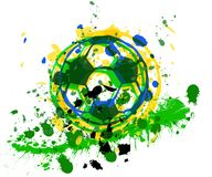 Soccer / Football ball, brazil, vector Stock Images