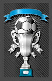 Soccer (football) ball and cup Royalty Free Stock Photos