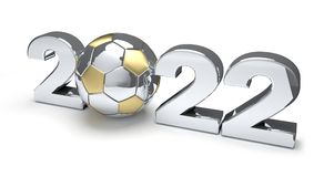 2022 soccer football ball 3d rendering. Design Royalty Free Stock Photo