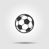 Soccer football ball flat icon with shadow Royalty Free Stock Photos