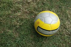 Soccer or football ball in green Stock Image