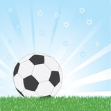 Soccer (football) ball over shiny background Royalty Free Stock Photography