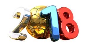 2018 soccer football ball symbol 3d rendering. Design illustration Stock Photos