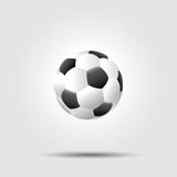 Soccer football ball on white background with Royalty Free Stock Photos