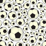Soccer and football balls seamless vector pattern eps10 Royalty Free Stock Photography