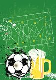 Soccer / Football and beer Royalty Free Stock Photos