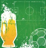 Soccer / Football and beer Stock Photos