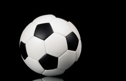 Soccer - football on black background Stock Photography