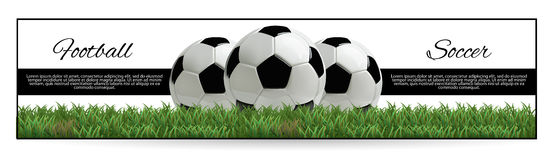 Soccer or Football Black Banner With 3d Ball in the Net and Scoreboard on white Background. Soccer or Football Black Banner With 3d Ball in the Net and Royalty Free Stock Photo