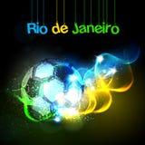 Soccer Football Brazil light background Royalty Free Stock Photos