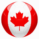Soccer football with Canada flag 3d rendering. On white background Royalty Free Stock Image