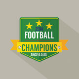 Soccer or Football Champions Badge Stock Photography