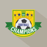 Soccer or Football Champions Badge Royalty Free Stock Photography