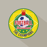 Soccer or Football Champions Badge Stock Image